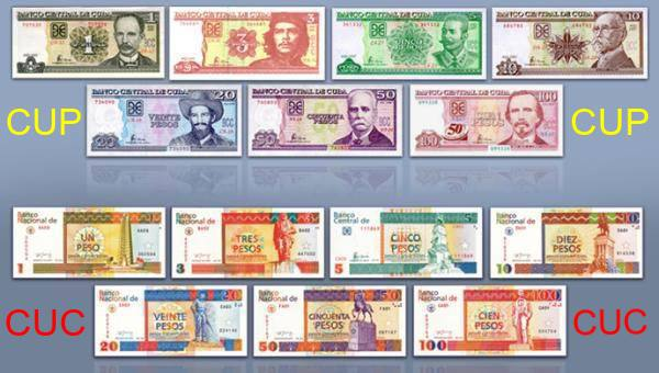 Cuban currency - CUC and CUP