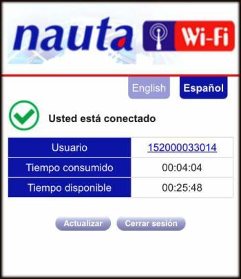 Wifi in Cuba - NAUTA Card Logout