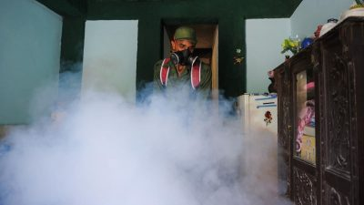 Fumigation against Mosquitoes in Cuba