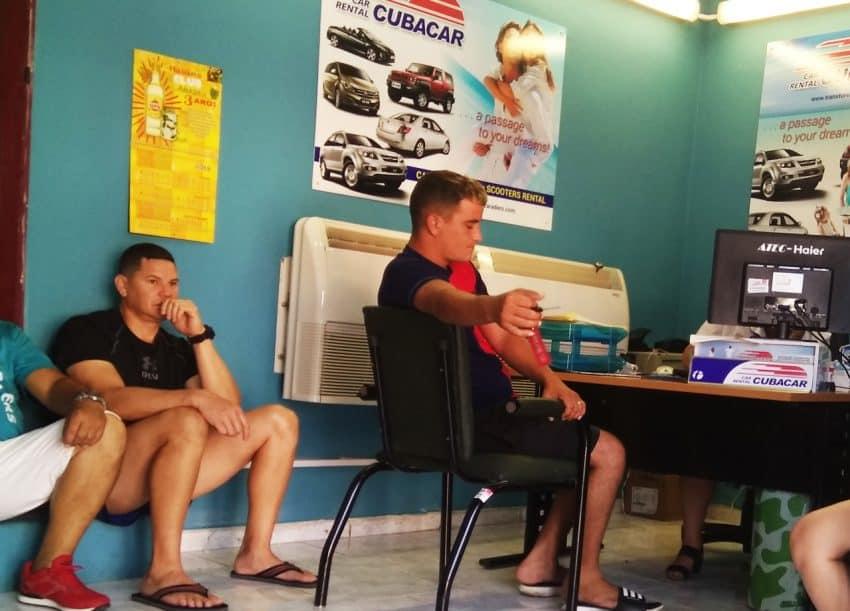 Cubacar Car Rental Line of Customers